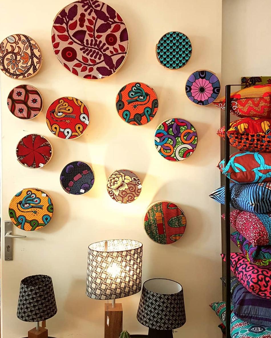 Comment Faire Des Badges Maison décoration d'intérieur avec les imprimés wax - tissuwax